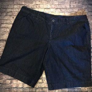 CJ banks denim shorts size 24w